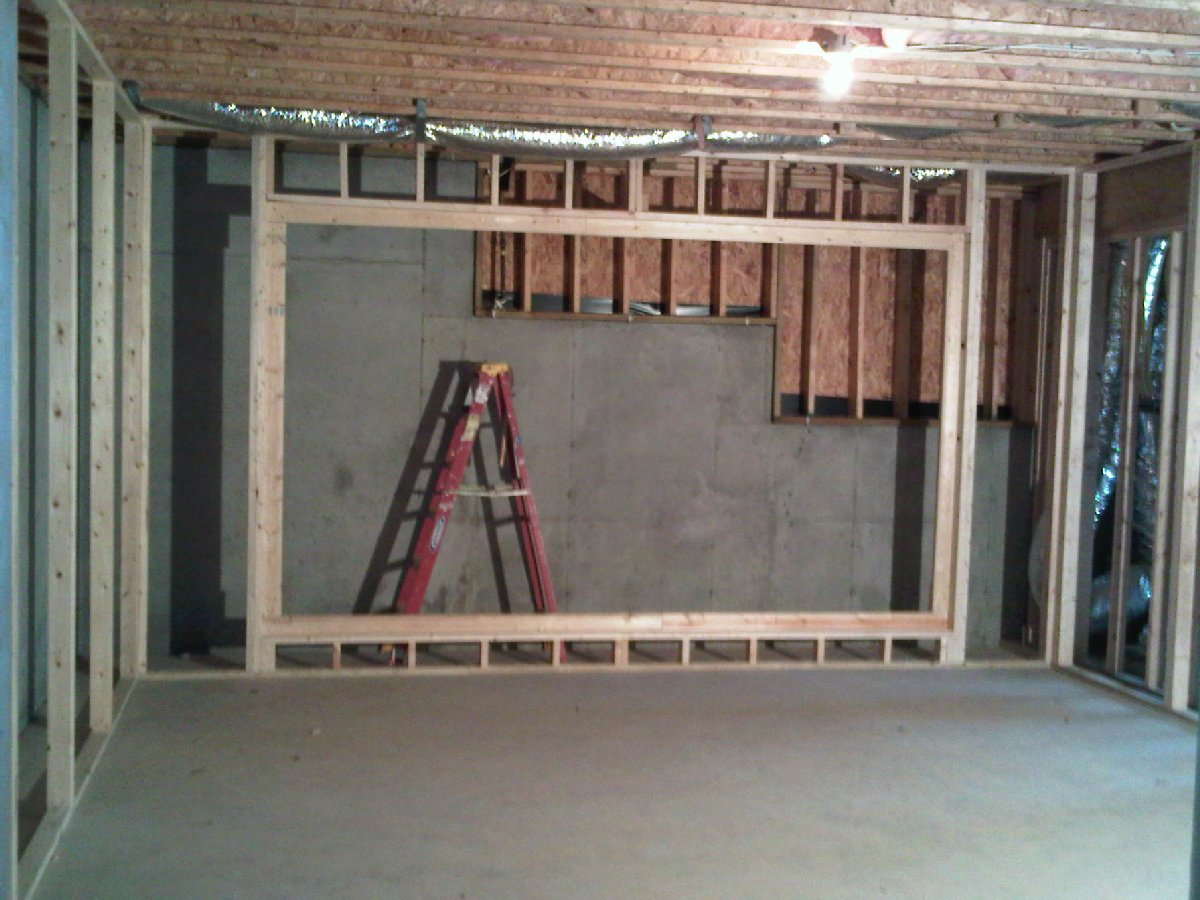 ... The Foundation Wall Behind Your Screen Wall Should Be Finished Off With  Studs, Insulation, Vapor Barrier And Drywall Just Like The Rest Of The Room.